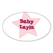 Baby Layla Oval Decal