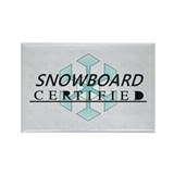 TOP Snowboard Certified Rectangle Magnet (10 pack)