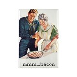 Bacon Fridge Rectangle Magnet