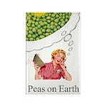Peas On Earth Fridge Rectangle Magnet