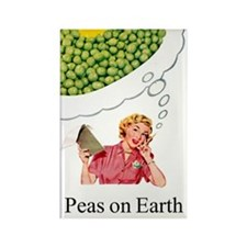 Peas On Earth Fridge Magnet