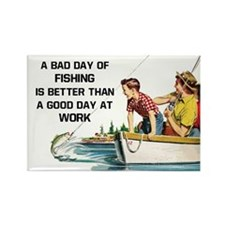 Fishing Fridge Magnet