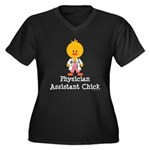 Physician Assistant Chick Women's Plus Size V-Neck