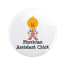 "Physician Assistant Chick 3.5"" Button (100 pack)"