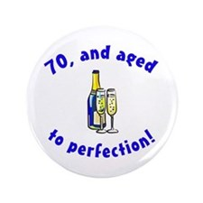 "Vintage 70th Birthday 3.5"" Button"
