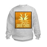 Greetings, Retro Robot Sweatshirt