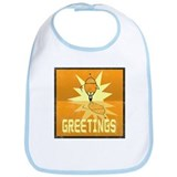 Greetings, Retro Robot Bib