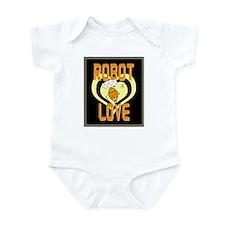 Retro Robot Love Infant Bodysuit