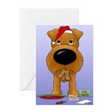 Irish Terrier Santa Greeting Card