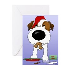 Jack Russell Santa Greeting Cards (Pk of 20)