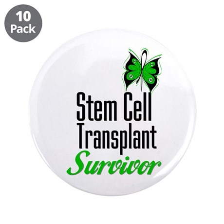 "Survivor Stem Cell Transplant 3.5"" Button (10 pack"