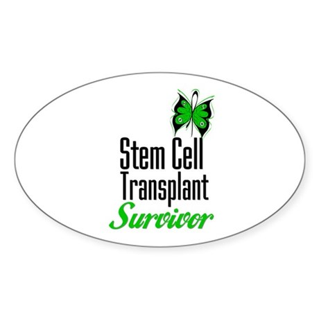 Survivor Stem Cell Transplant Oval Sticker