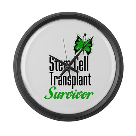 Survivor Stem Cell Transplant Large Wall Clock