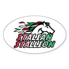 Italian Stallion Oval Decal
