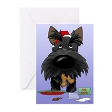 Scottie Santa's Cookies Greeting Cards (Pk of 20)