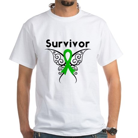 Butterfly SCT BMT Survivor White T-Shirt
