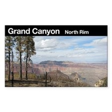 Grand Canyon NP (North Rim) Rectangle Decal