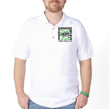 Collage Stem Cell Transplant Golf Shirt