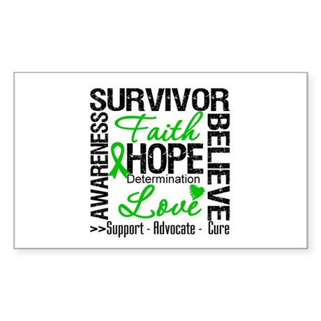 Collage Stem Cell Transplant Rectangle Sticker