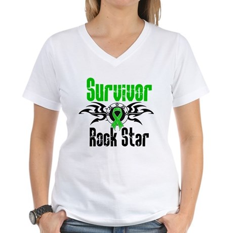 SCT Survivor Rock Star Women's V-Neck T-Shirt