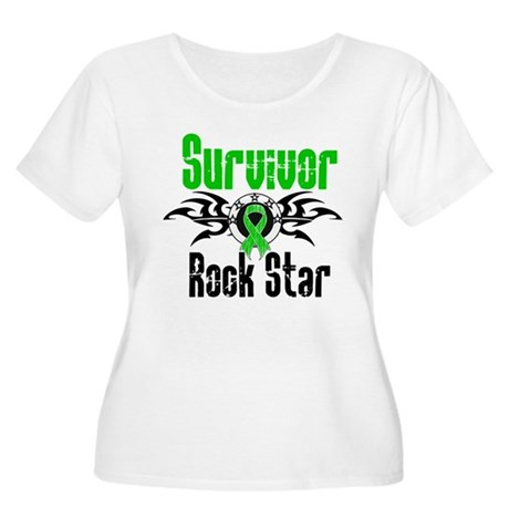 SCT Survivor Rock Star Women's Plus Size Scoop Nec