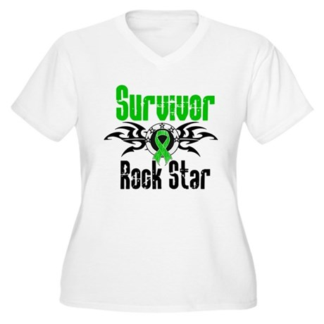 SCT Survivor Rock Star Women's Plus Size V-Neck T-