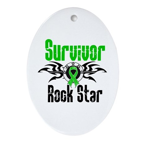 SCT Survivor Rock Star Oval Ornament