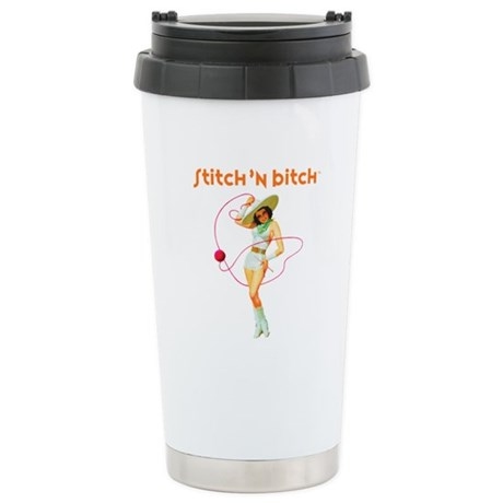 Official STITCH 'N BITCHT Ceramic Travel Mug