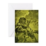 Odin & Fenris - Yellow Greeting Cards (Pk of 10)