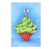 Christmas Tree Cupcake Postcards (Package of 8)