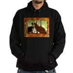 Orange Tabby Cats and Kittens Hoodie (dark)