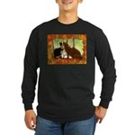 Orange Tabby Cats and Kittens Long Sleeve Dark T-S