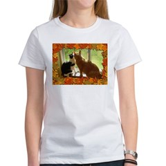 Orange Tabby Cats and Kittens Women's T-Shirt