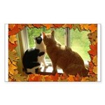 Orange Tabby Cats and Kittens Sticker (Rectangle)