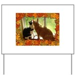 Orange Tabby Cats and Kittens Yard Sign