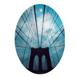 Brooklyn Bridge Oval Ornament