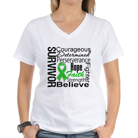 Survivor StemCellTransplant Women's V-Neck T-Shirt