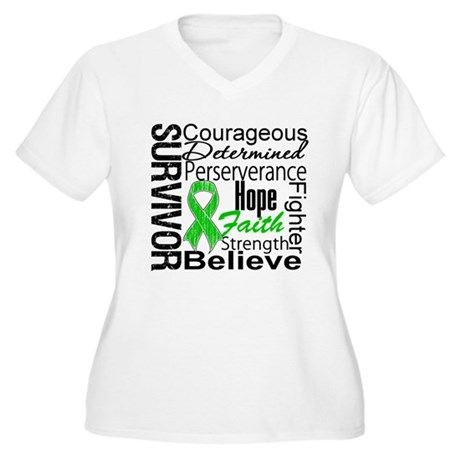 Survivor StemCellTransplant Women's Plus Size V-Ne