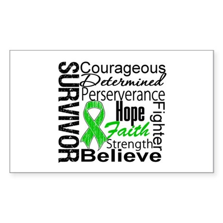 Survivor StemCellTransplant Rectangle Sticker 50