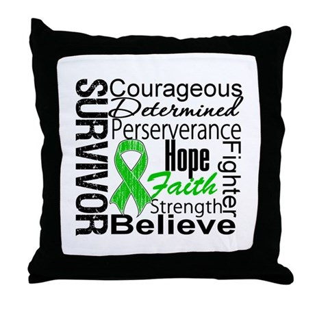 Survivor StemCellTransplant Throw Pillow