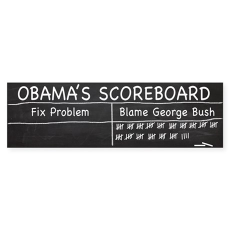 Obama Scoreboard Bumper Sticker