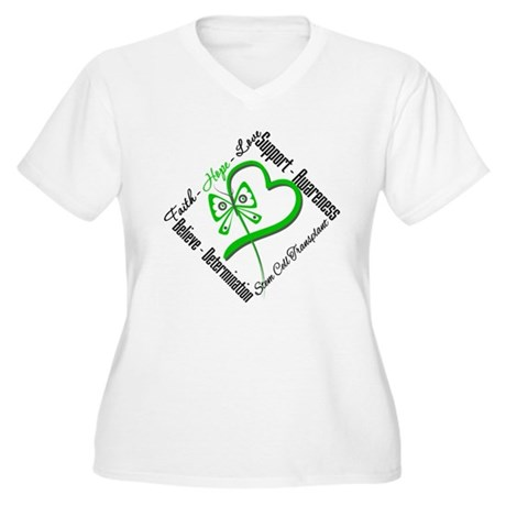 StemCellTransplant Heart Women's Plus Size V-Neck