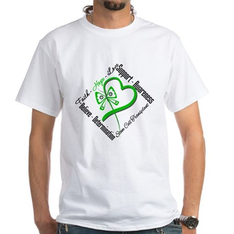 StemCellTransplant Heart White T-Shirt