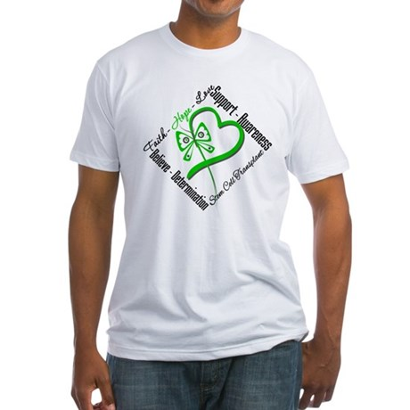 StemCellTransplant Heart Fitted T-Shirt