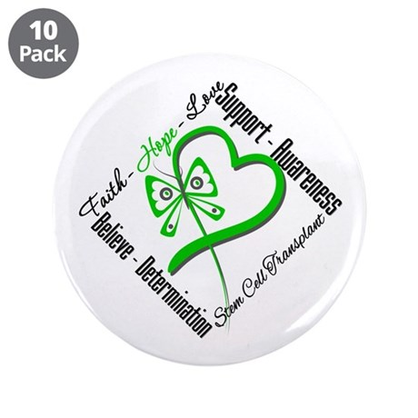 "StemCellTransplant Heart 3.5"" Button (10 pack)"