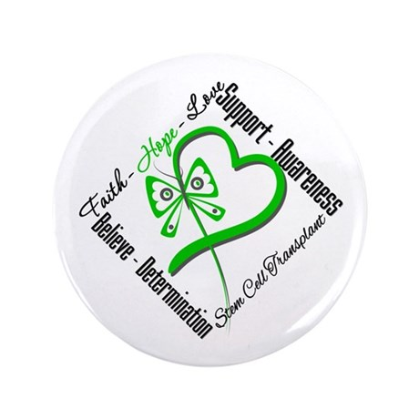 "StemCellTransplant Heart 3.5"" Button (100 pack)"