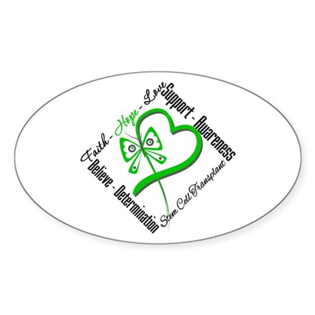 StemCellTransplant Heart Oval Sticker