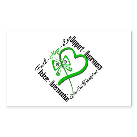 StemCellTransplant Heart Rectangle Sticker