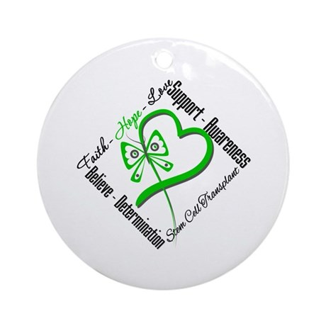 StemCellTransplant Heart Ornament (Round)