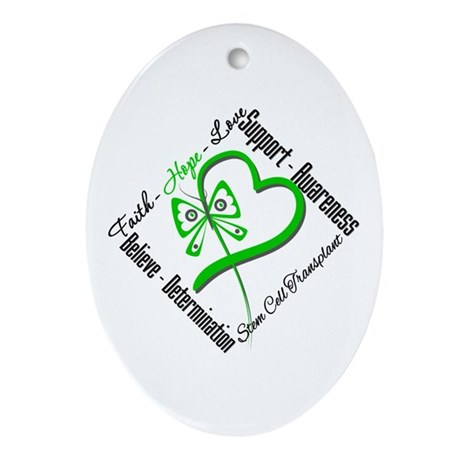 StemCellTransplant Heart Oval Ornament
